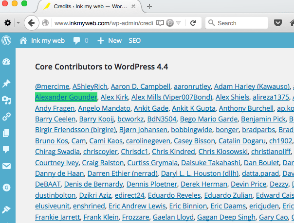 Alexander Gounder WordPress Core Contributor